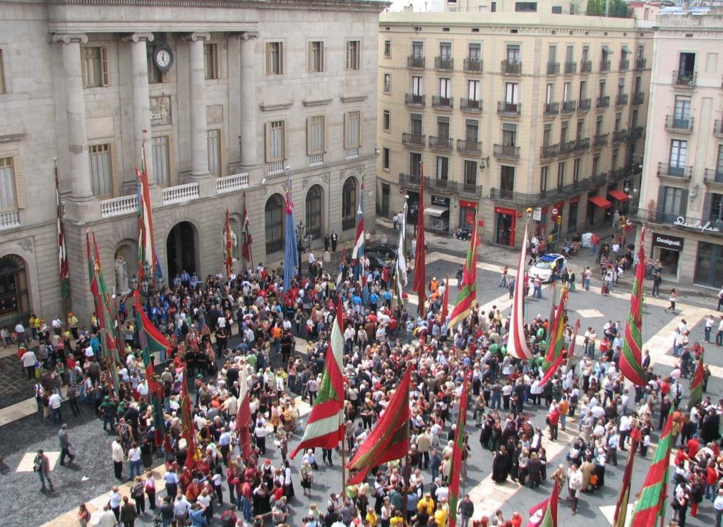 Plaza De San Jaime In Barcelona Squares In Spain